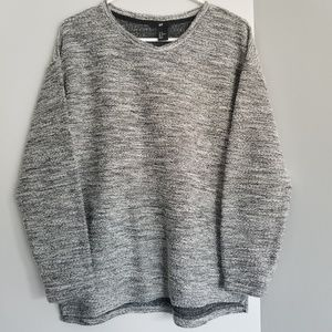 Gray H&M high low style sweater